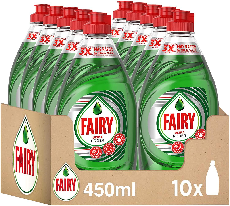 10x Fairy Ultra Poder Líquido Lavavajillas