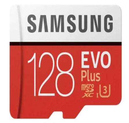 MicroSD Samsung 128GB EVO + Adaptador