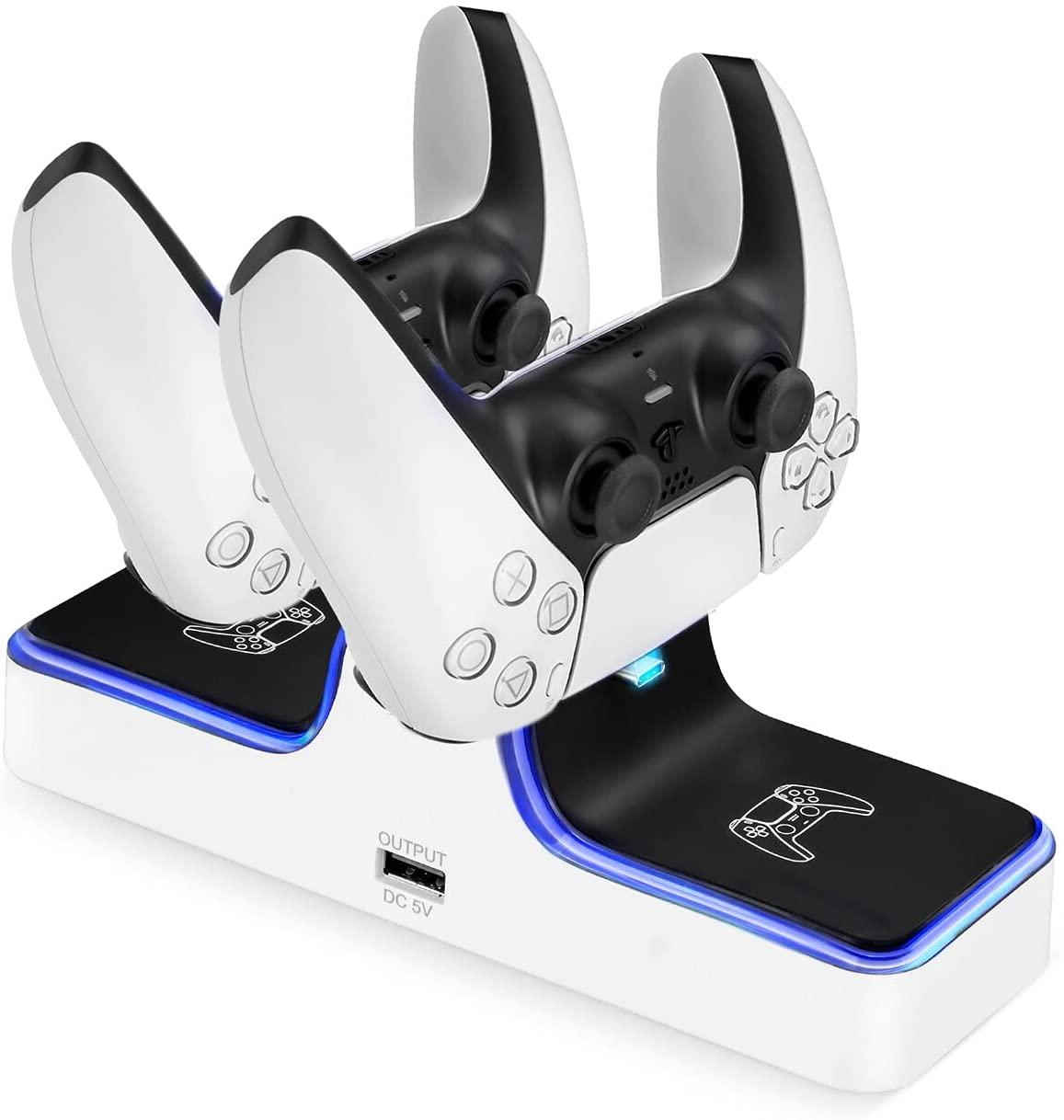 Soporte doble de carga para mandos de PS5
