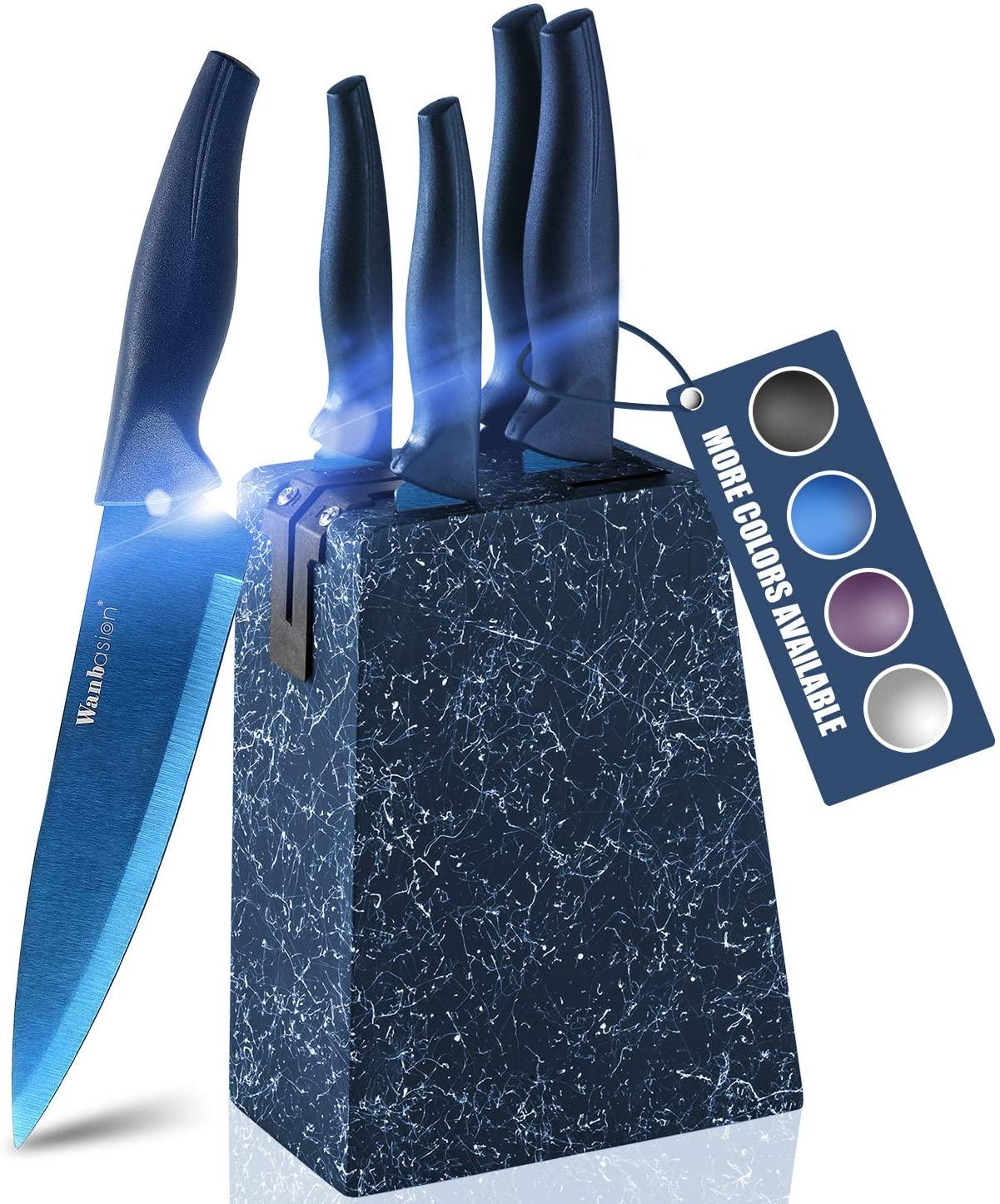 Set de 6 cuchillos con soporte