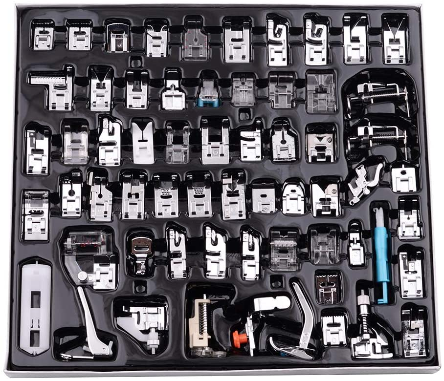 Kit de 62 Piezas Prensatelas Multifuncional para Máquina de Coser