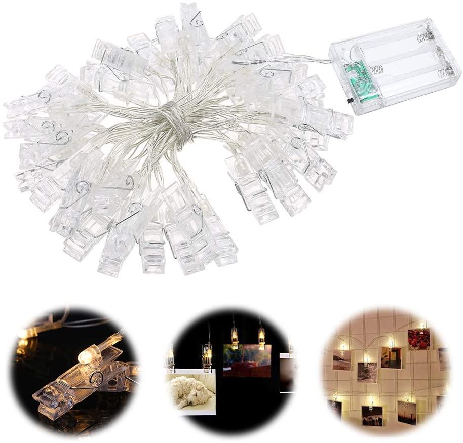 Cuerda de pinzas LED para fotos