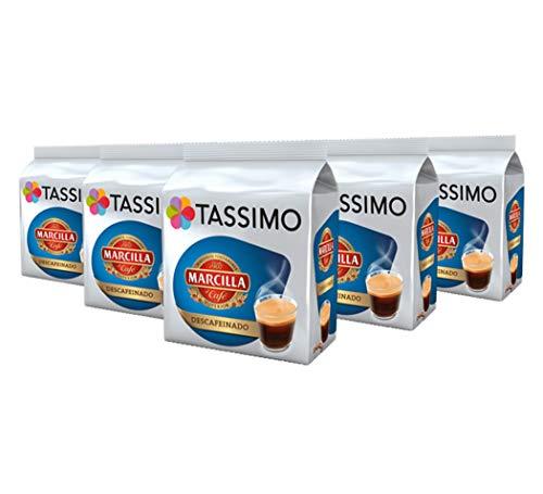 TASSIMO Marcilla Café Descafeinado - 5 paquetes de 16 cápsulas