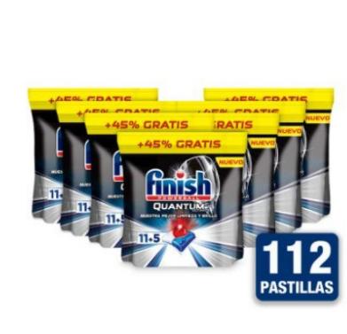Pack 7x Finish Quantum Ultimate 11+5 Pastillas para Lavavajillas