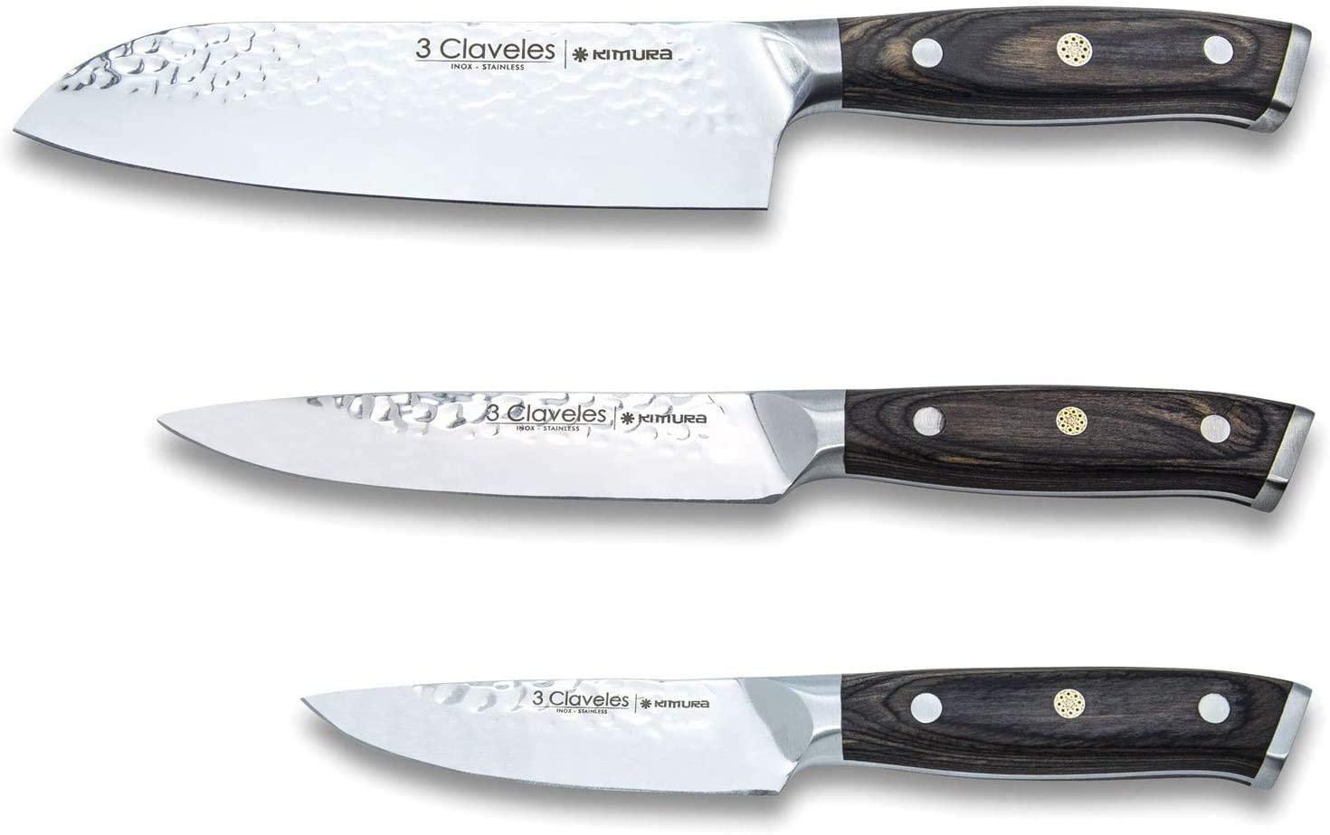 Juego de cuchillos 3 Claveles Kimura