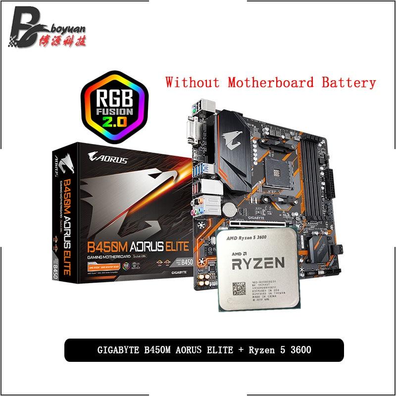 AMD Ryzen 5 3600X y  AORUS ELITE B450M