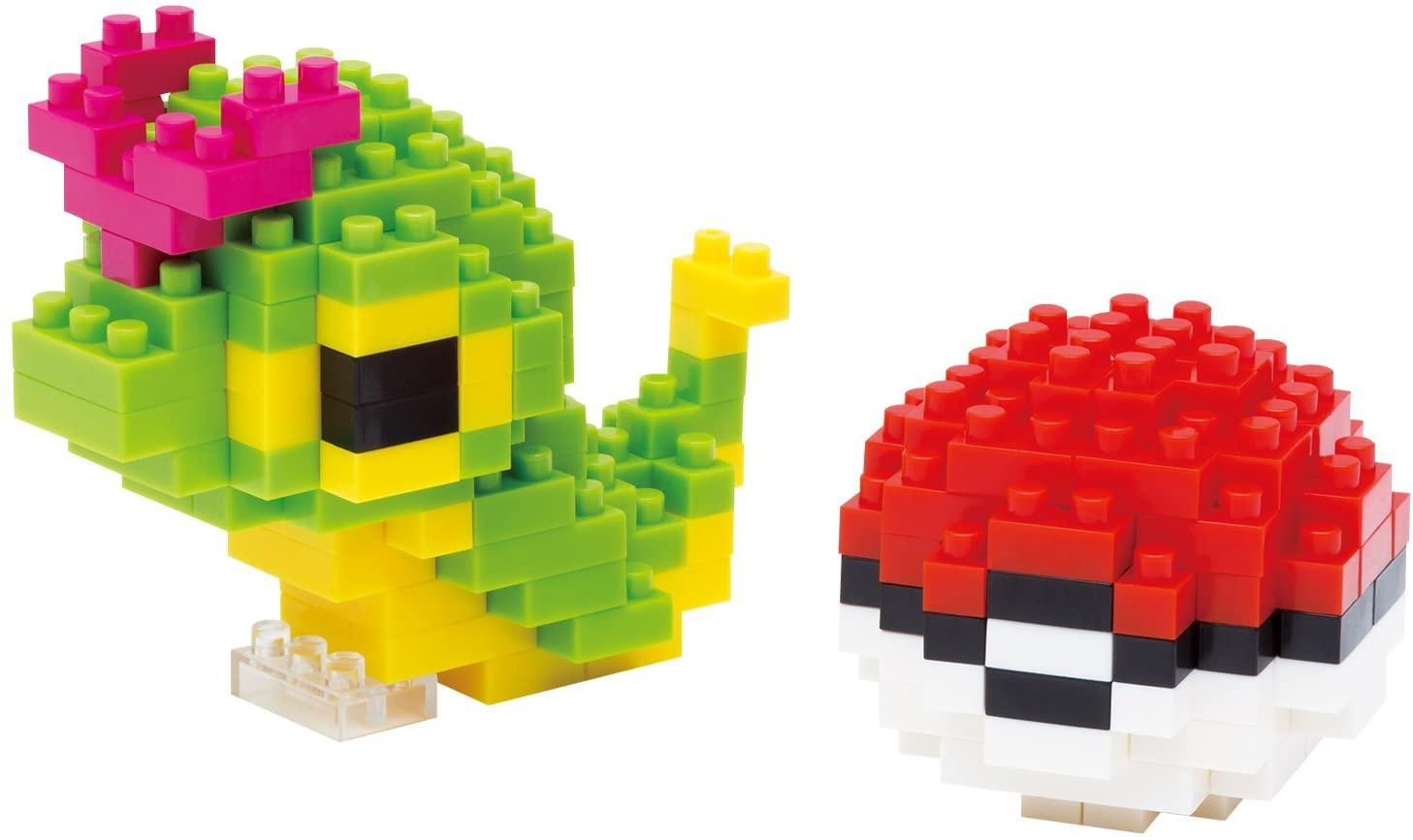 Pokemon Nanoblock Caterpie & Pokeball 170 Piezas