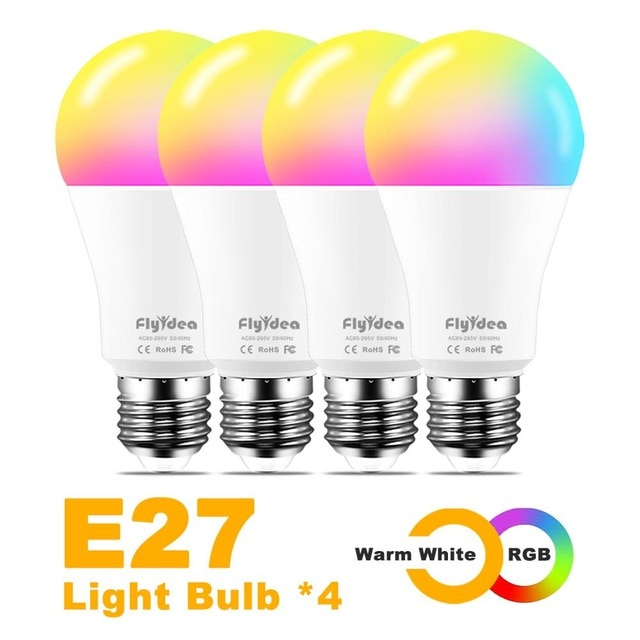 Pack de 4 bombillas LED RGB de 100w