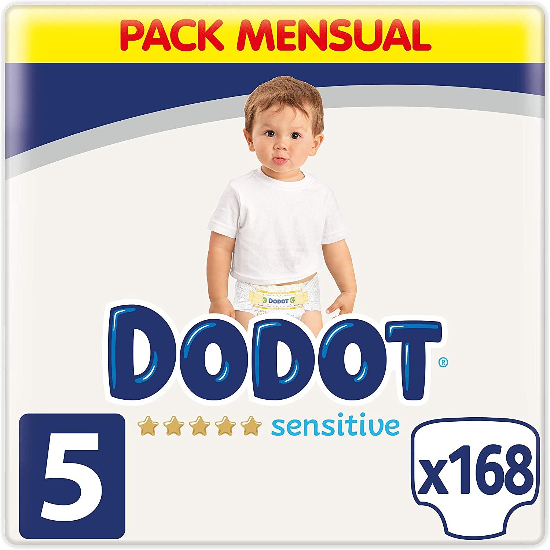Pack 168 pañales Dodot bebé seco Talla 5 (11-16Kg)