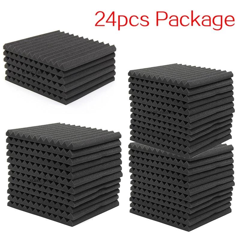 Pack 24 paneles de espuma acústica para estudio