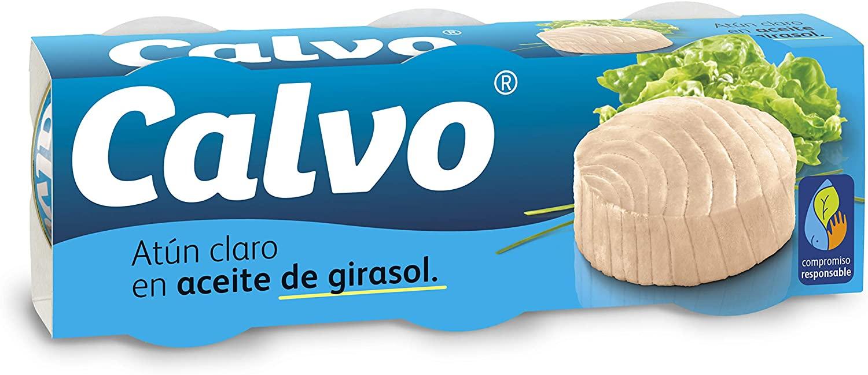 Atún claro Calvo en aceite de girasol pack 3uds