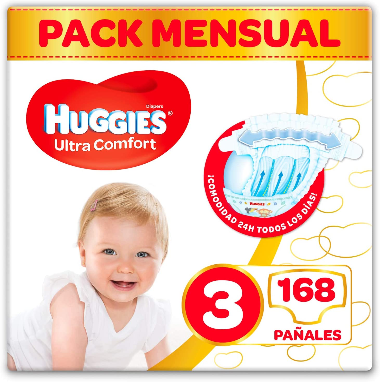 168 Pañales Huggies Ultra Comfort Talla 3