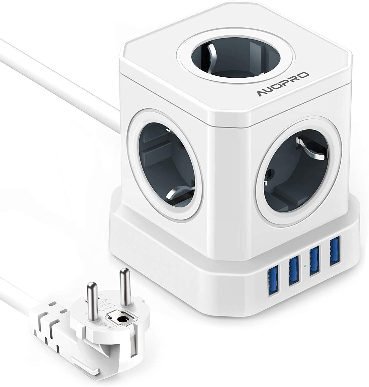 5 Enchufes Tipo Powercube + 4 USB QC