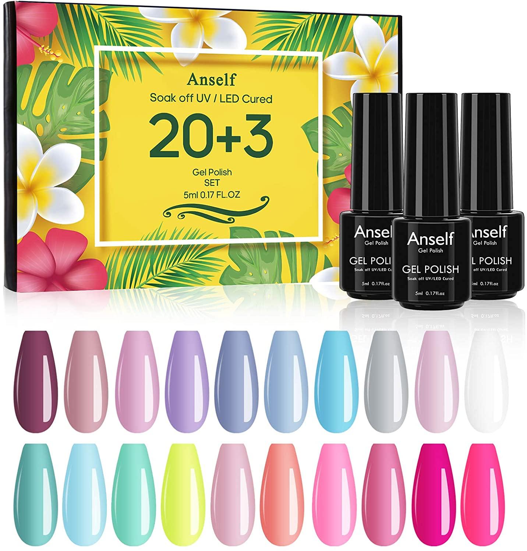 Pack de 23 esmaltes de uñas multicolor