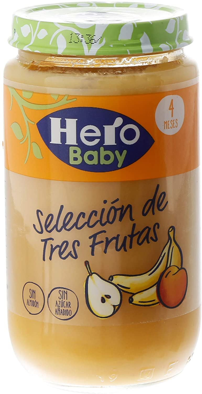 Pack de 12 Tarritos Hero Baby Selección de Frutas (+4 Meses)