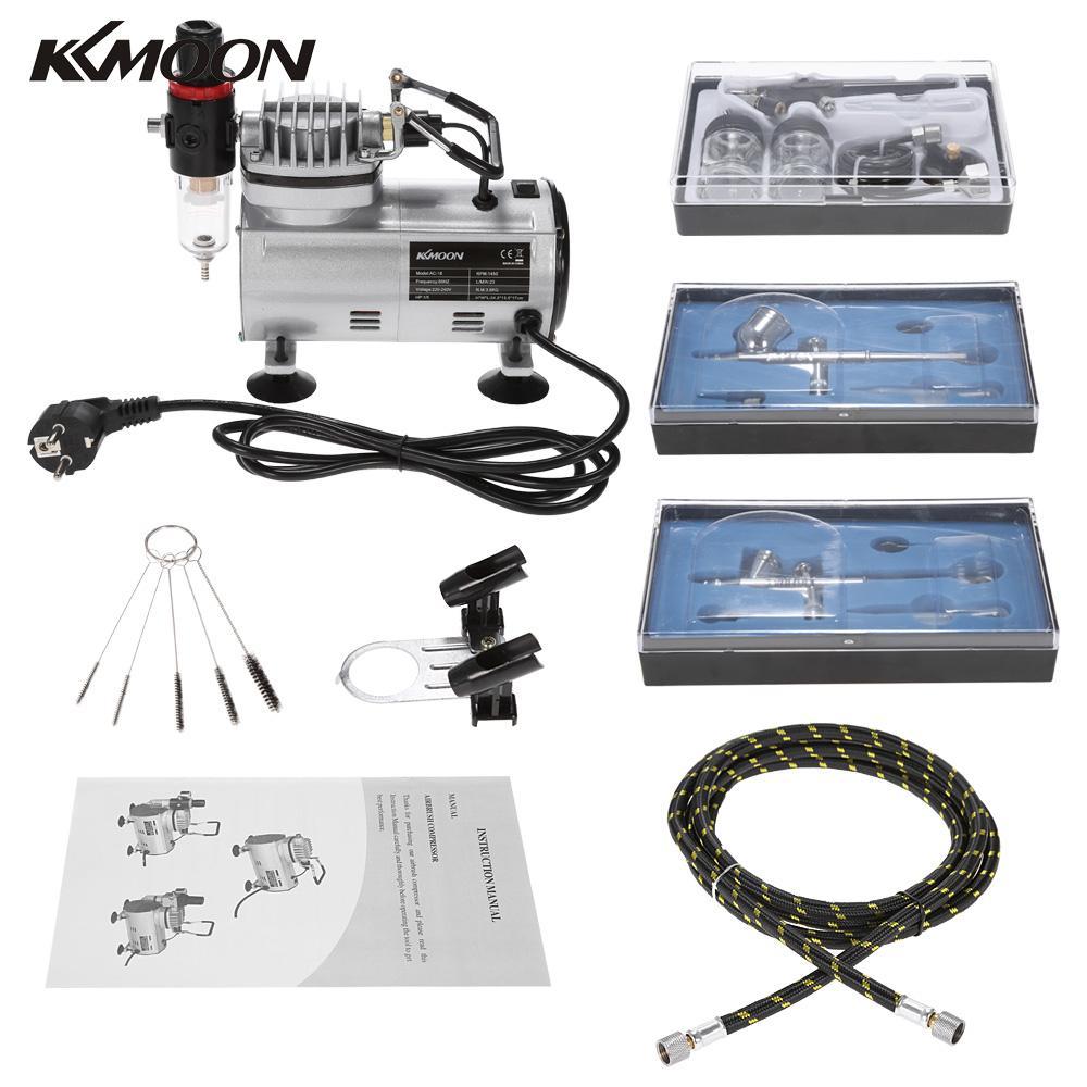 Kit de 3 aerógrafos profesionales + Compresor + Accesorios
