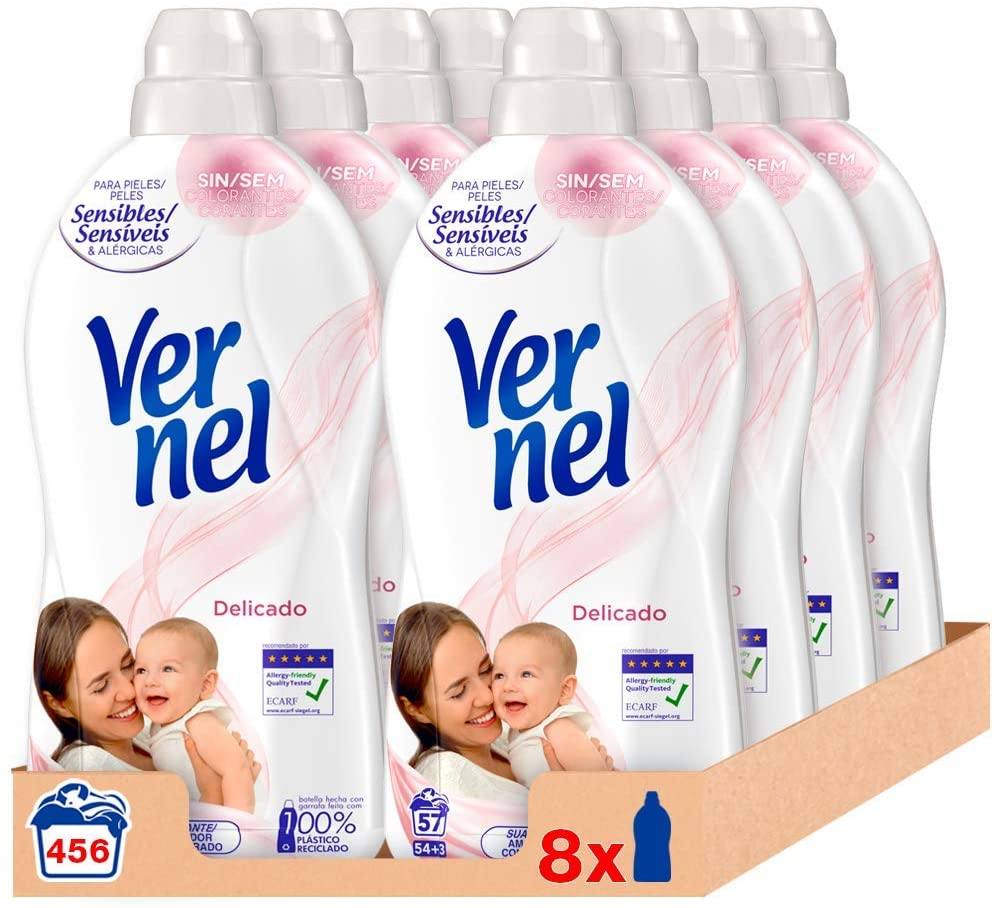 Vernel Suavizante Delicado 912 lavados