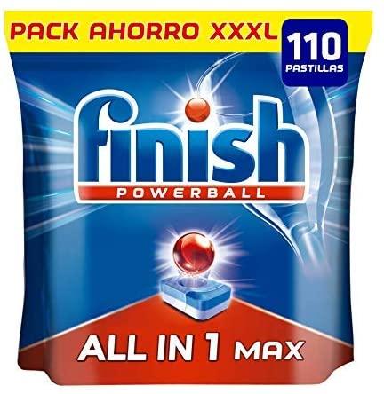110 Pastillas lavavajillas Finish Powerball
