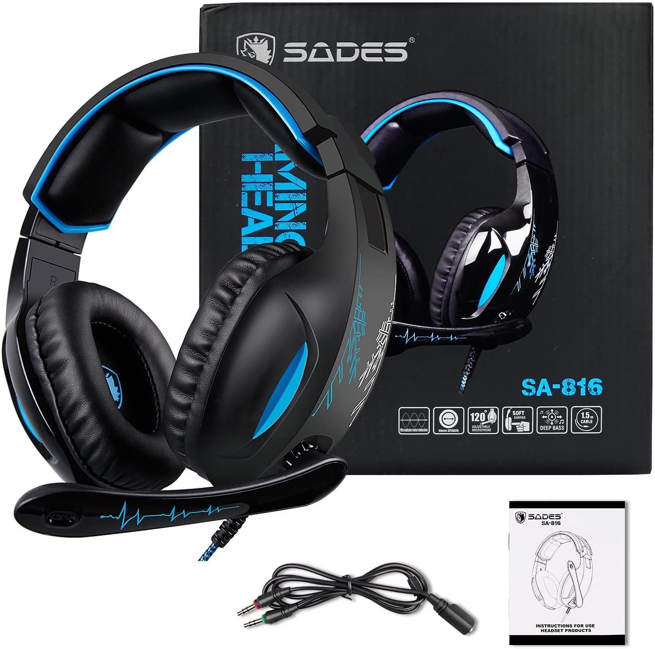 Auriculares Pro Gaming con micrófono Sades SA-816