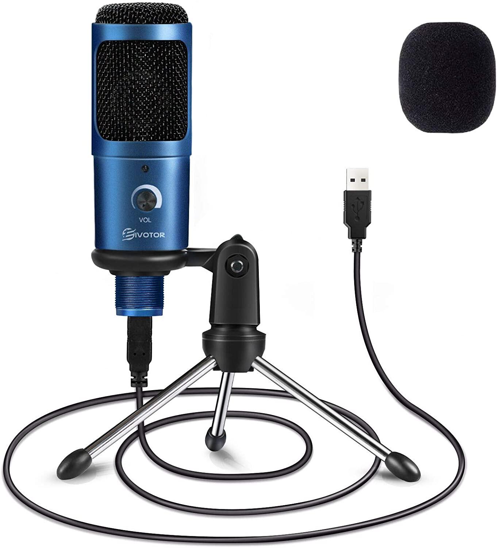 Micrófono condensador profesional + trípode