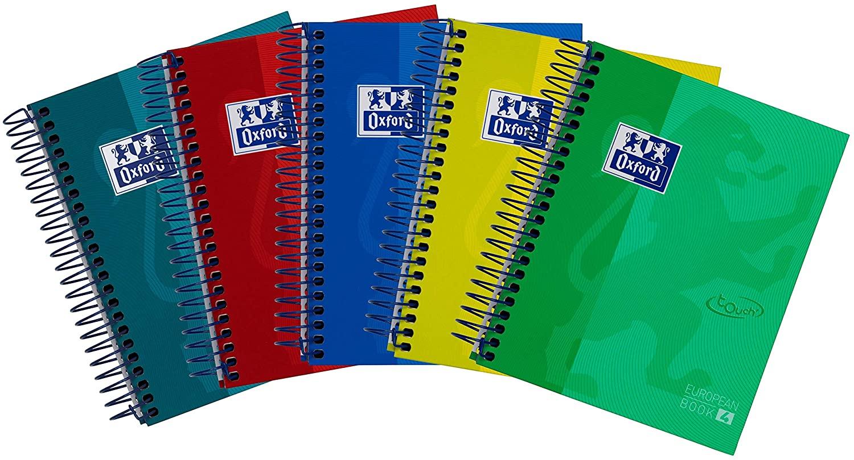 Pack de 5 cuadernos espiral  Oxford 1/8