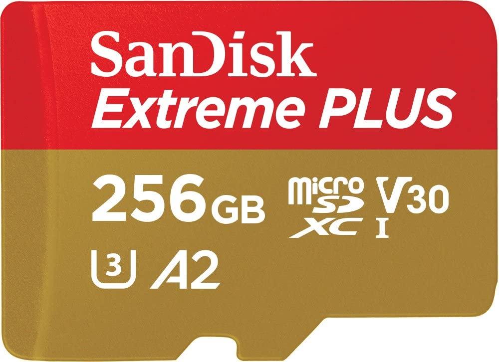 Tarjeta de memoria MicroSD 256 GB SanDisk Extreme PLUS