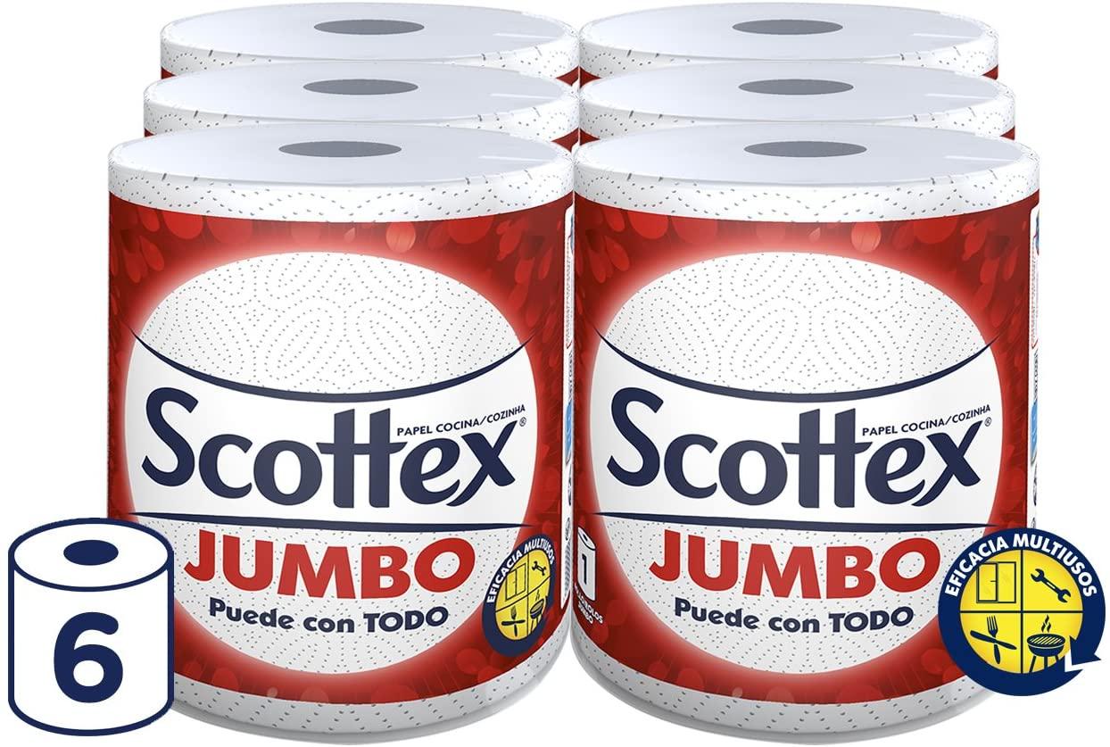 Papel de cocina Jumbo Scottex 6 rollos