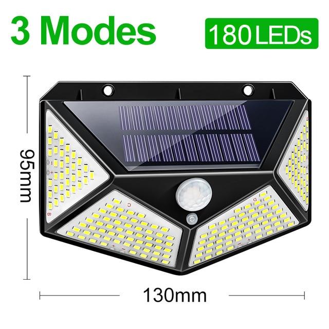 Foco solar LED exterior 100LEDS