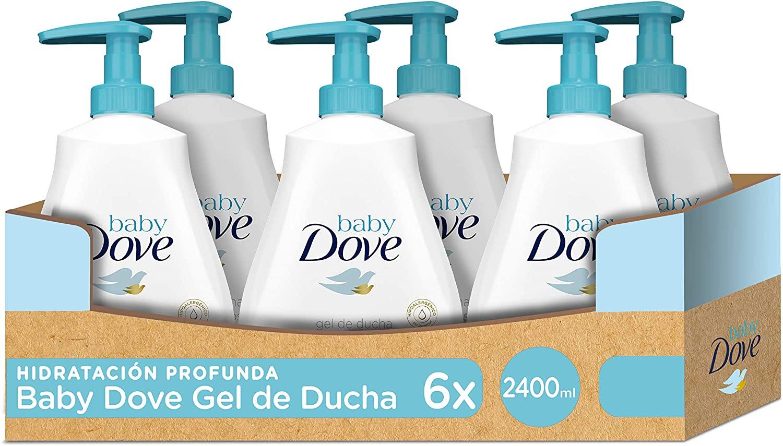 6x400ml Dove Gel de baño Bay hidratación Profunda