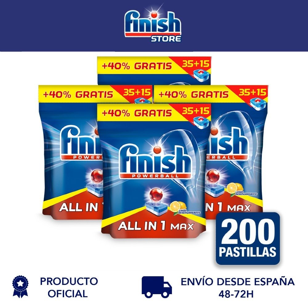 Finish Powerball All in 1 Max 4x50 unidades