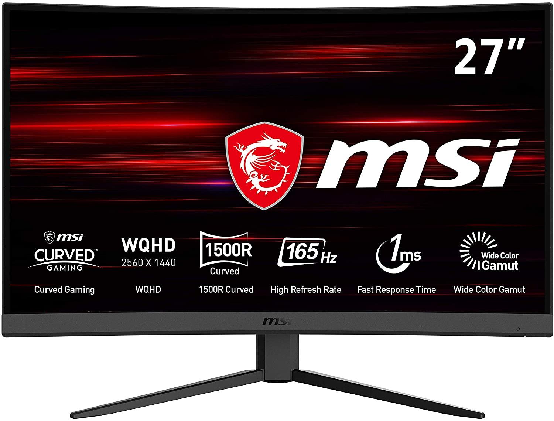 """Monitor Gaming Curvo 27"""" MSI Optix G27CQ4 165Hz"""
