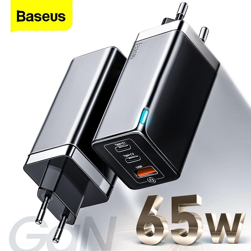 Cargador QC Baseus 65W GaN