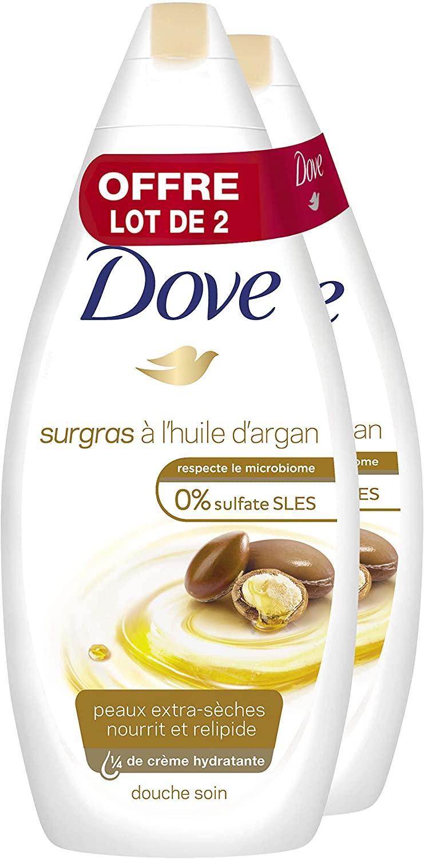 2x 750ml Dove Gel de ducha aceite de argán