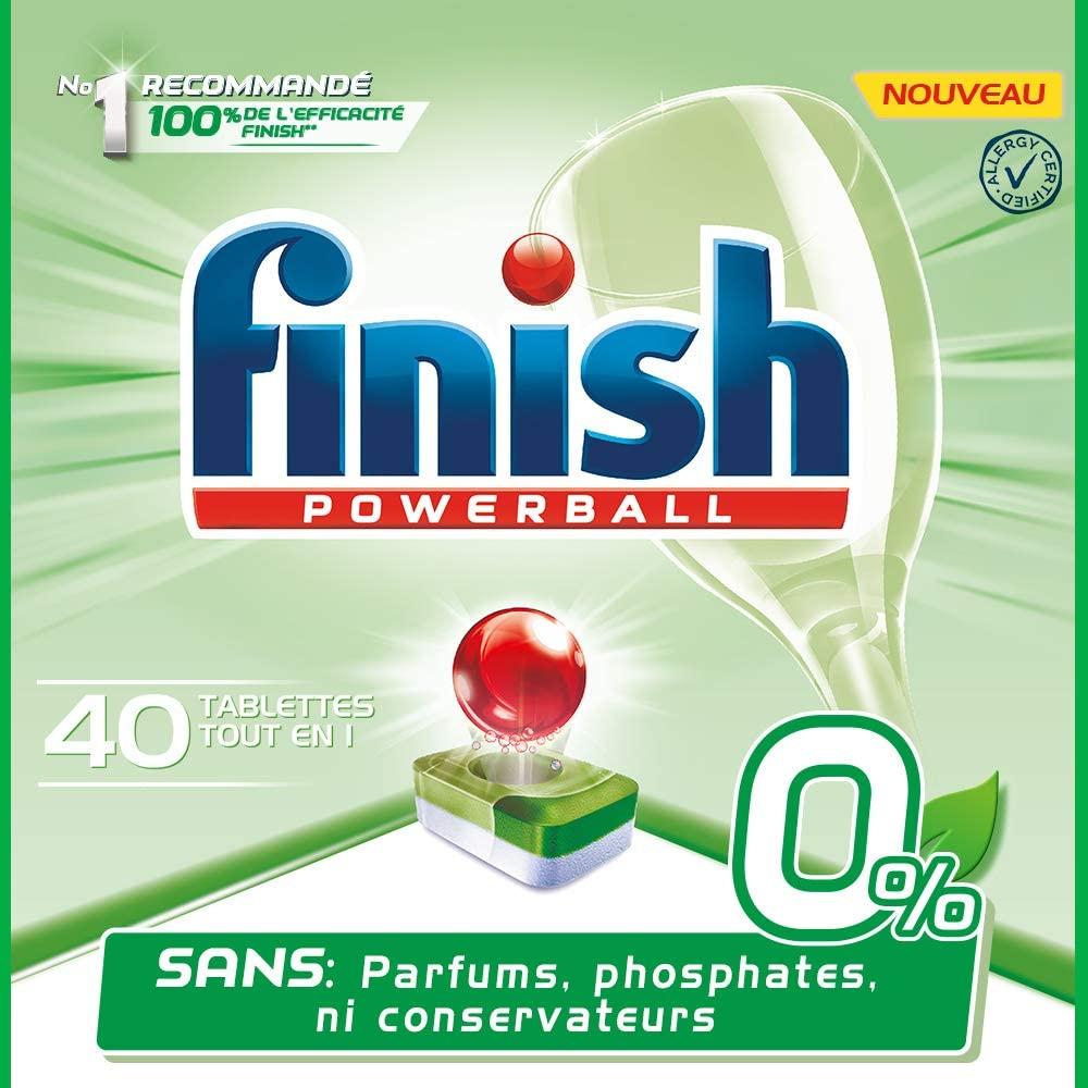 40x Pastillas Finish Powerball Todo en uno 0%