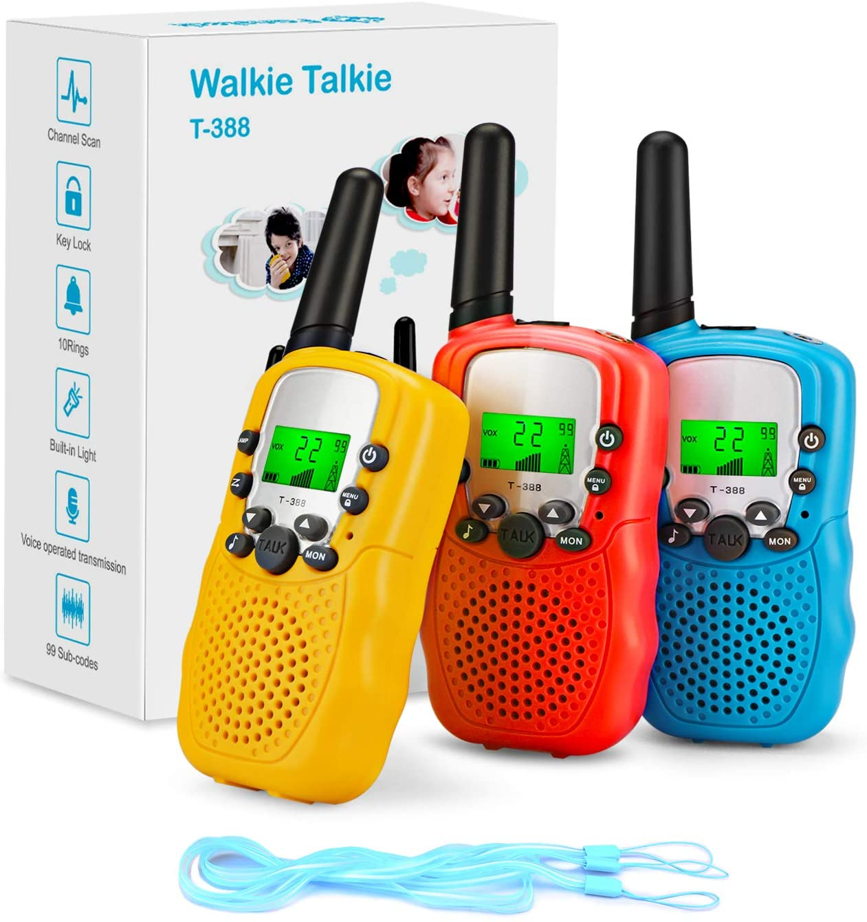 3X Walkie Talkie Con LCD