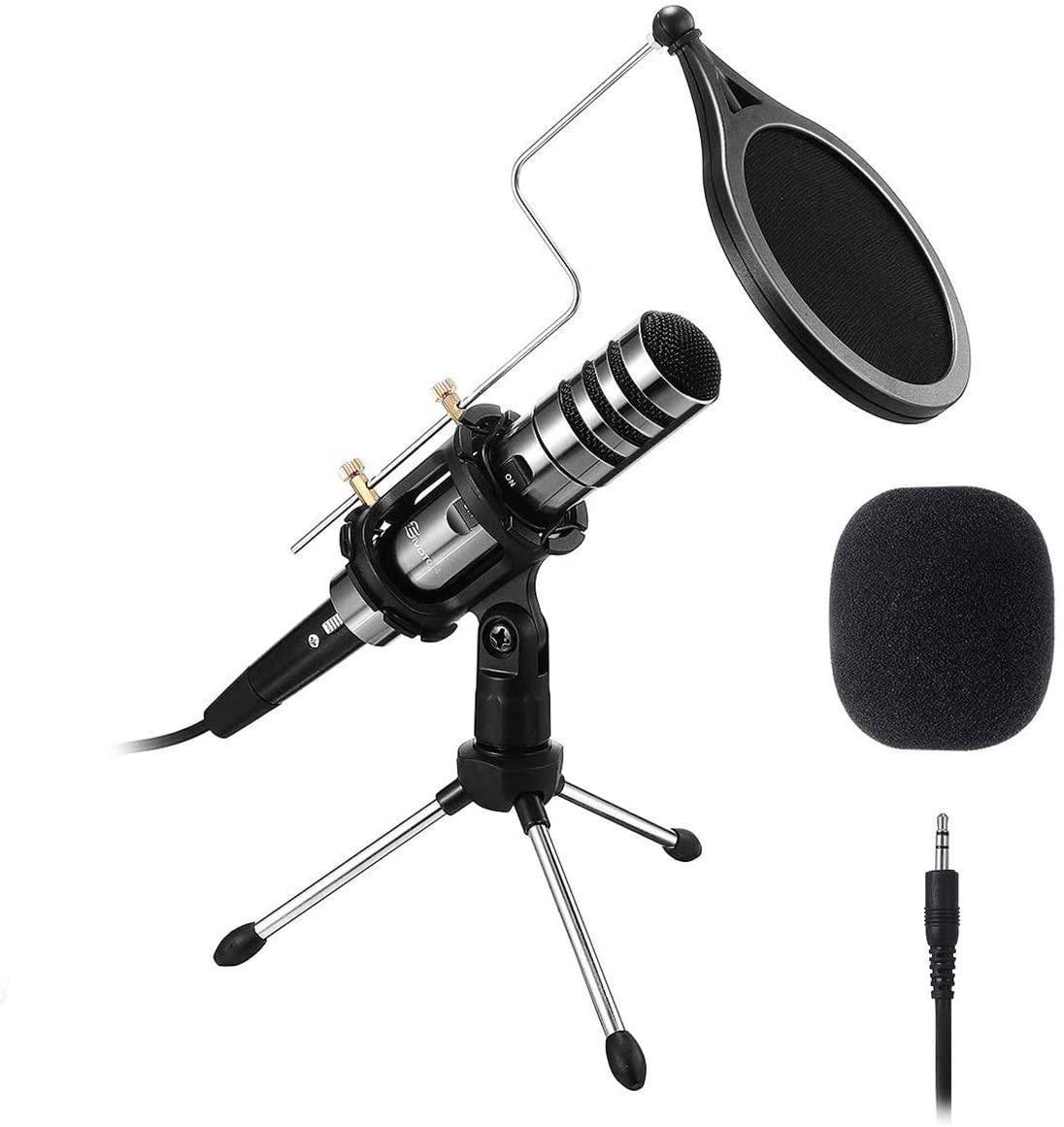 Micrófono de Condensador USB + Accesorios Eivotor