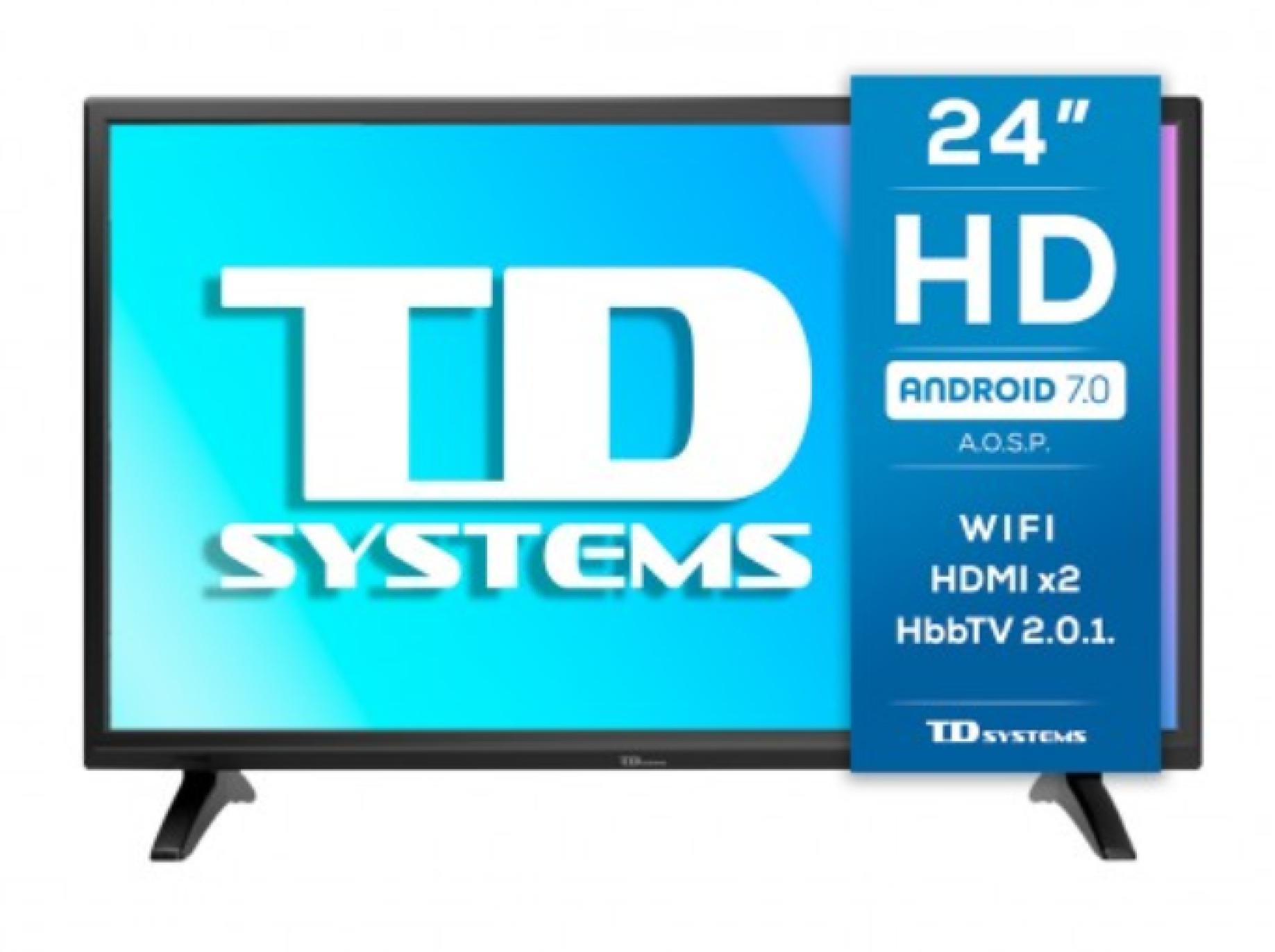 """Smart TV 24"""" TD Systems K24DLM8HS"""