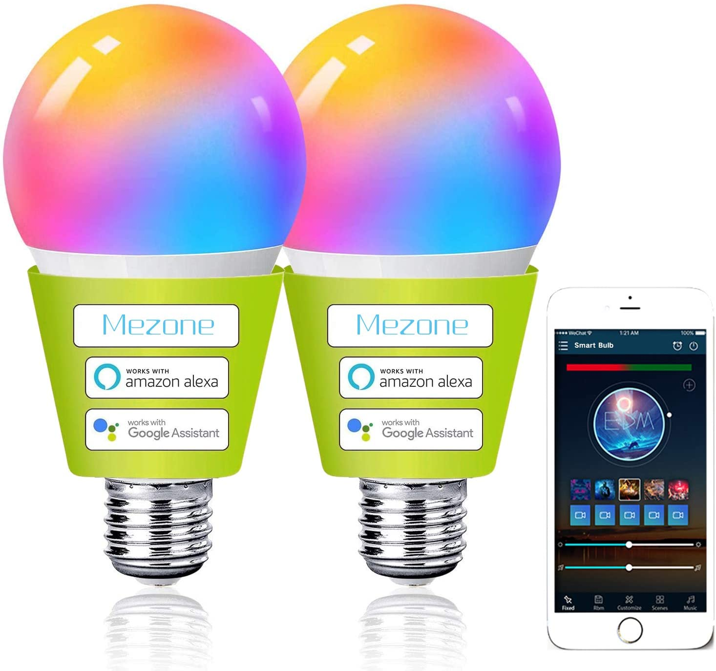 2 Bombillas LED Inteligente