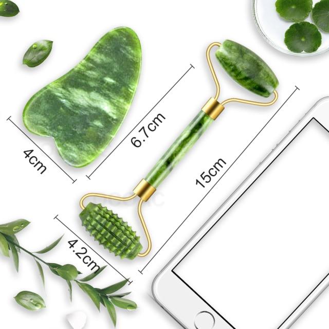 Masajeador facial de jade