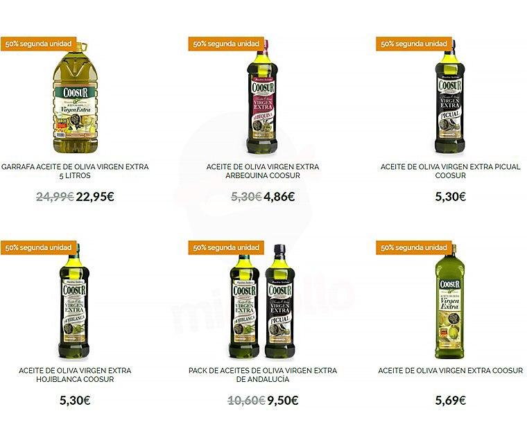 2ª Unidad al 50% en productos seleccionados Coosur