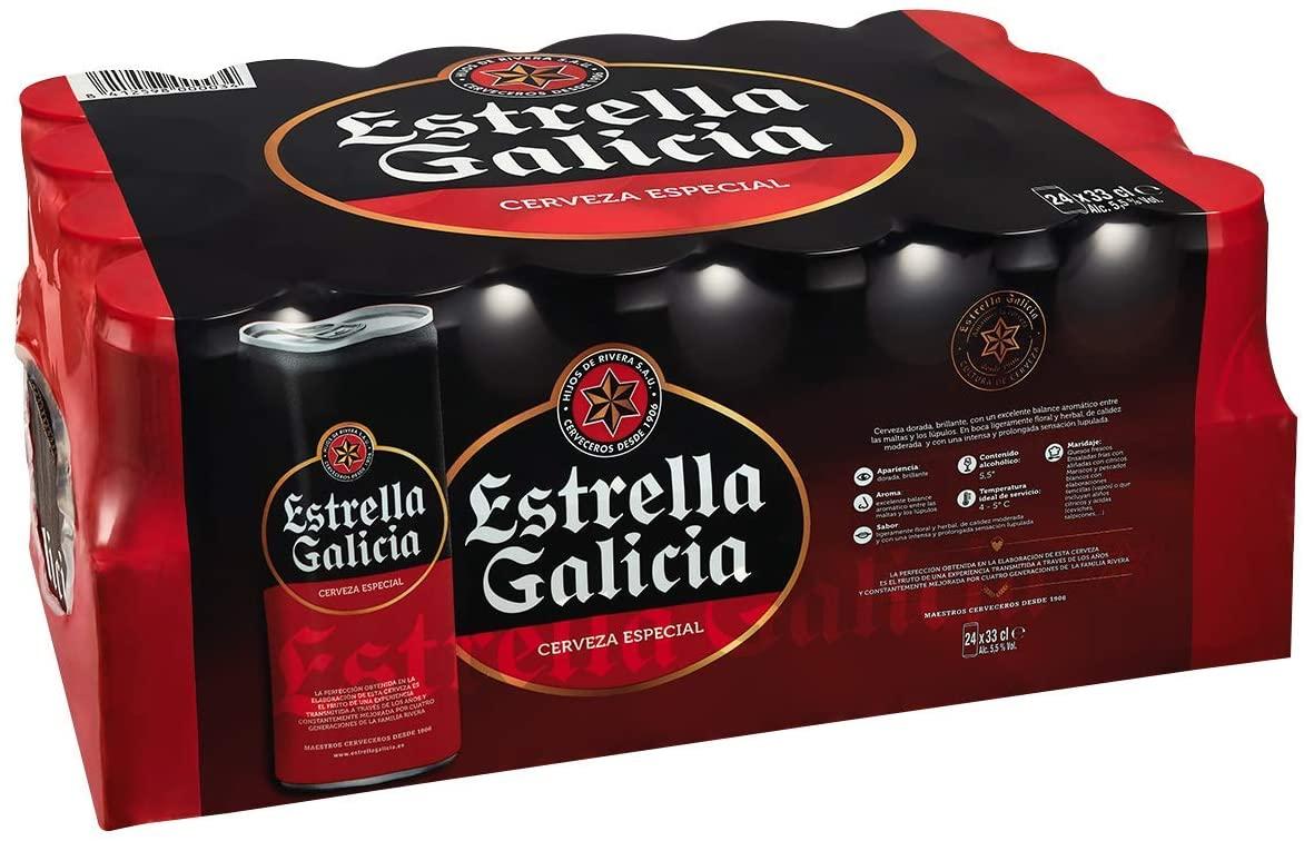 Paquete de 24 Cervezas Estrella Galicia