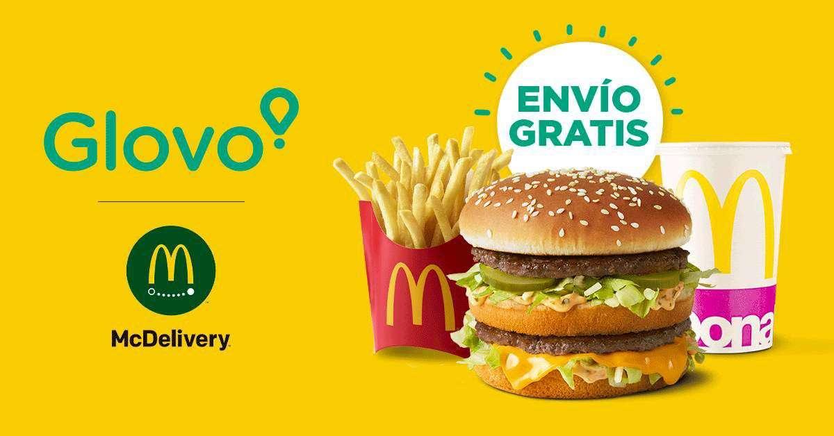 Envío en McDonalds con GLOVO