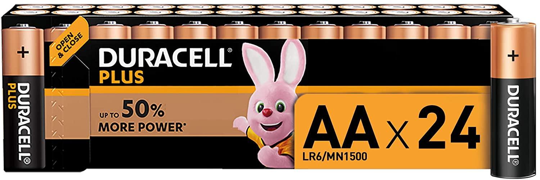 24 pilas alcalinas Duracell Plus AA