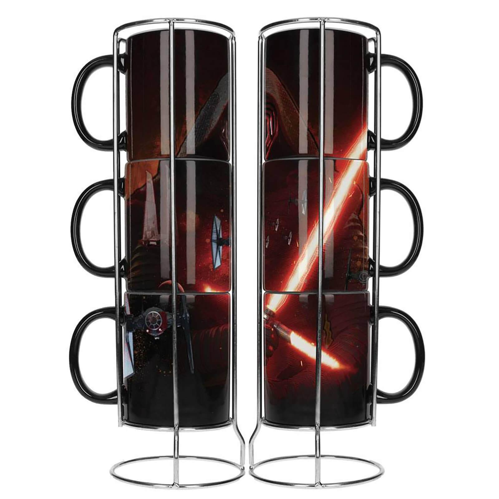 3x Tazas de cerámica apilables Star Wars