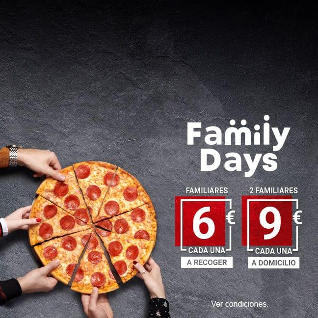 Hoy Disfruta de los Family Days de Telepizza