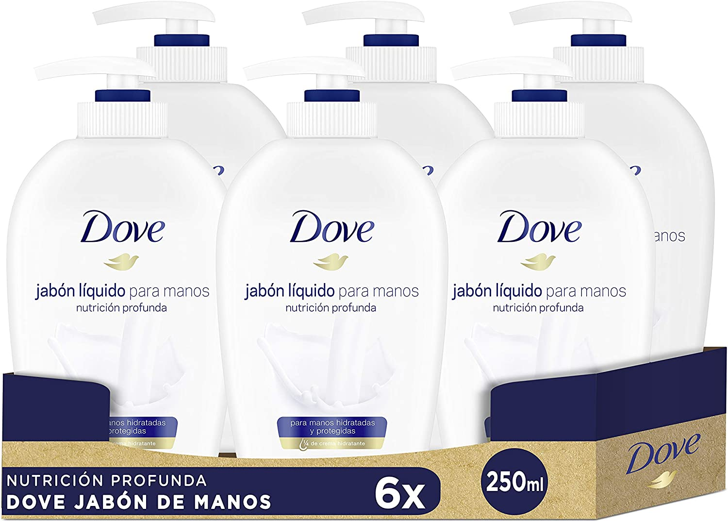 6X Jabón para manos dispensador Dove
