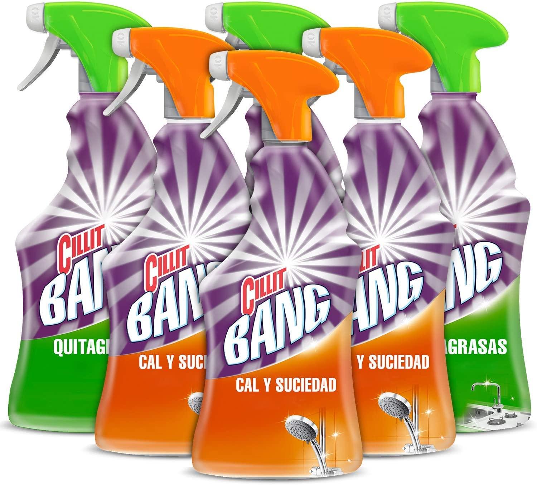 6x750ml Cillit Bang Spray Limpiador Cal y Suciedad