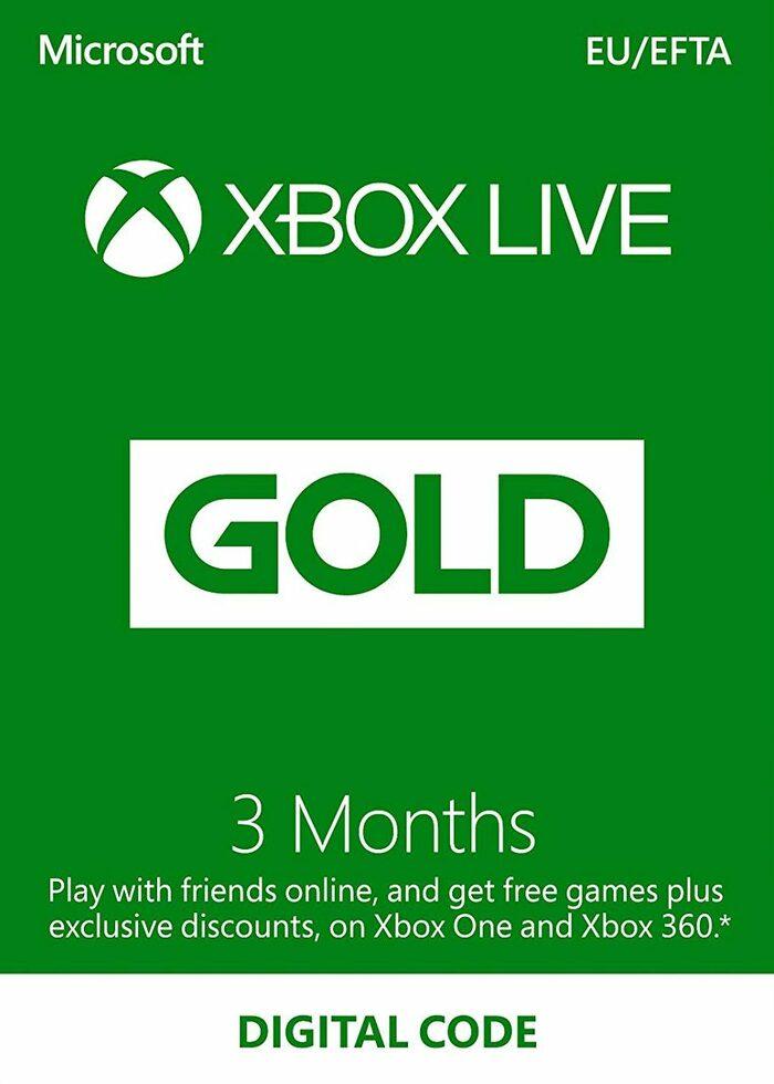 3 Meses Suscripción Xbox Live Gold