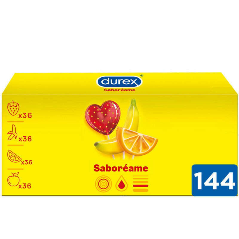 144 Preservativos Saboreame con Sabores Afrutados