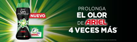 PROLONGA EL OLOR DE ARIEL 4 VECES MÁS